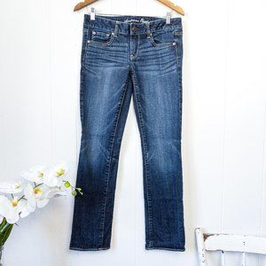 AEO Straight Stretch Regular Jeans Size 6